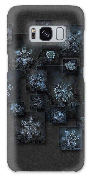 Snowflake Collage - Dark Crystals 2012-2014 Galaxy Case
