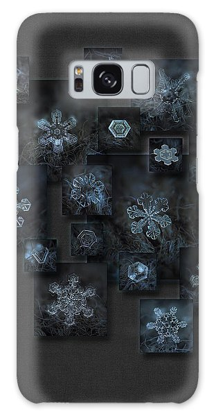 Snowflake Collage - Dark Crystals 2012-2014 Galaxy Case
