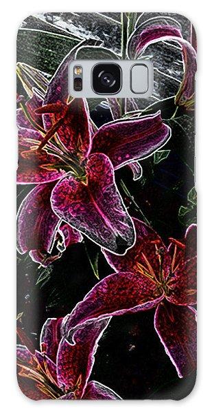 Dark Lillies Galaxy Case