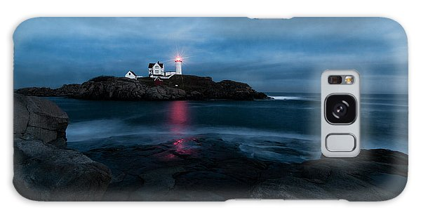 Dark Night At The Nubble Galaxy Case by Sharon Seaward