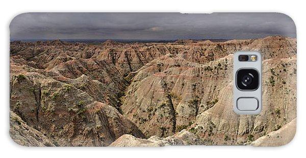 Dark Panorama Over The South Dakota Badlands Galaxy Case by Sebastien Coursol