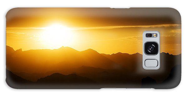 Galaxy Case featuring the photograph Dark Sunset Over The Matzatzals by Brad Brizek
