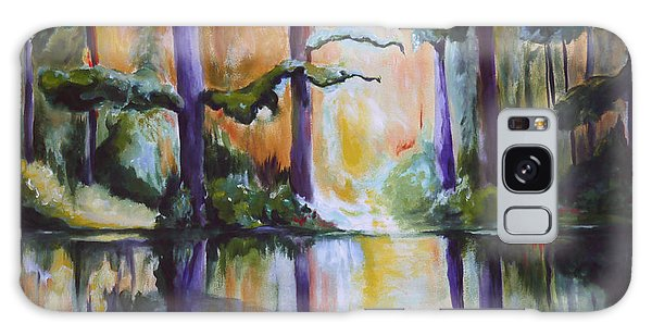 Dark Woods Galaxy Case by Nadine Dennis