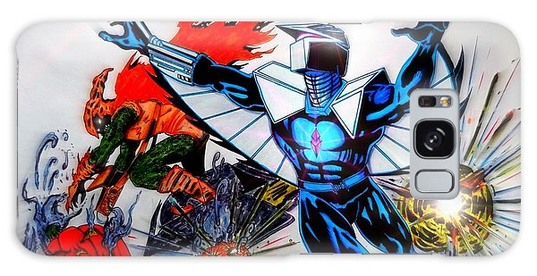 Darkhawk Vs Hobgoblin Focused Galaxy Case by Justin Moore