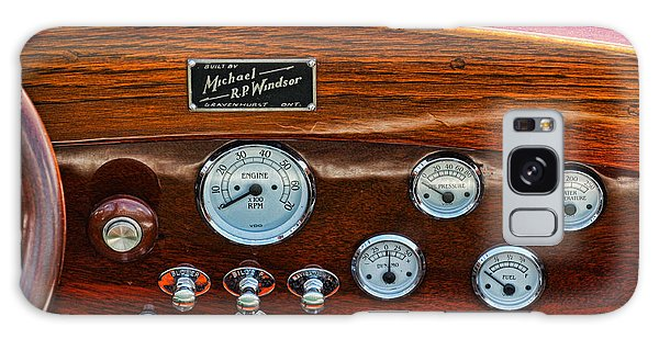 Dashboard In A Classic Wooden Boat Galaxy Case