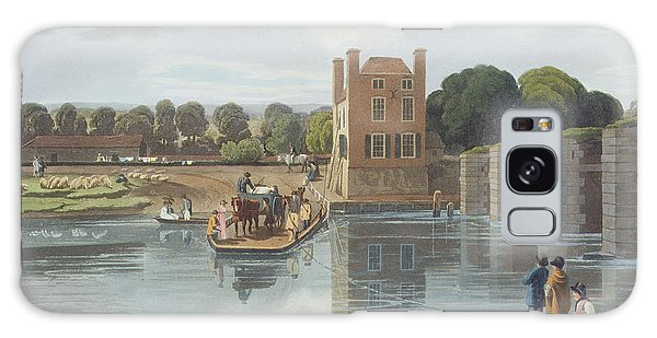Cart Galaxy Case - Datchet Ferry, Near Windsor, Engraved by William Havell