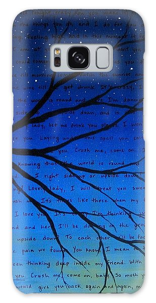 Song Galaxy Case - Dave Matthews Band Crush Song Lyric Art by Michelle Eshleman