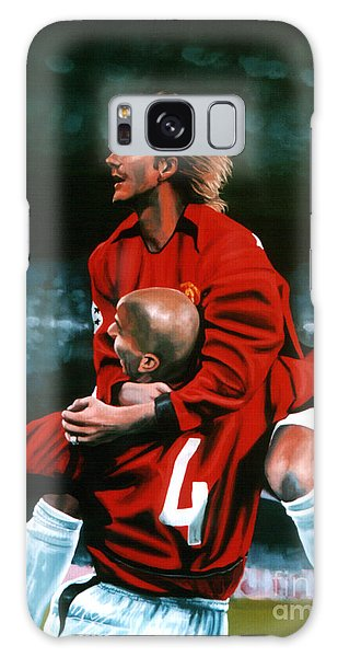 David Beckham And Juan Sebastian Veron Galaxy Case by Paul Meijering