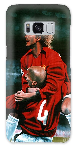 Sportsman Galaxy Case - David Beckham And Juan Sebastian Veron by Paul Meijering