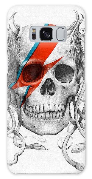 Halloween Galaxy Case - David Bowie Aladdin Sane Medusa Skull by Olga Shvartsur