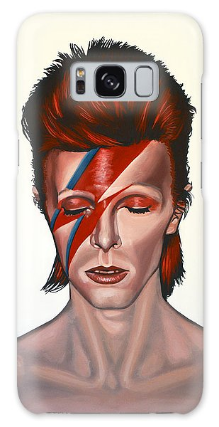 David Bowie Aladdin Sane Galaxy Case by Paul Meijering