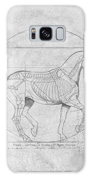Da Vinci Horse Piaffe Grayscale Galaxy Case