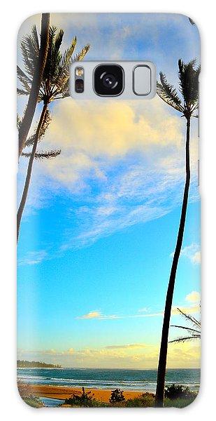 Dawn And Palms Kauia - Hawaii Galaxy Case