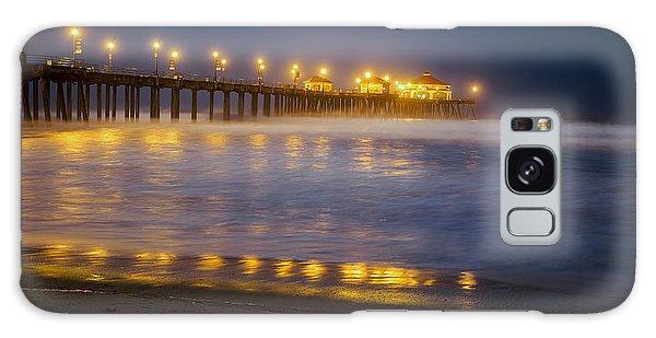 Dawn At Huntington Beach Pier By Denise Dube Galaxy Case
