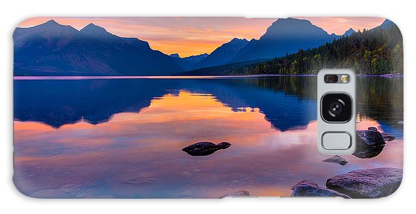 Dawn At Lake Mcdonald Galaxy Case