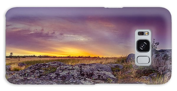 Dawn At Steppe Galaxy Case
