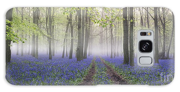 Bluebell Galaxy Case - Dawn Bluebell Wood Panoramic by Tim Gainey