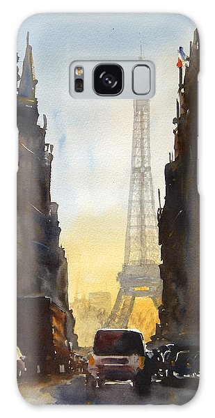 French Galaxy Case - Dawn In Paris by James Nyika
