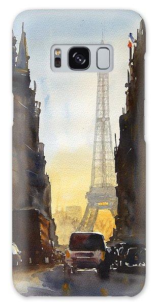 Eiffel Tower Galaxy Case - Dawn In Paris by James Nyika