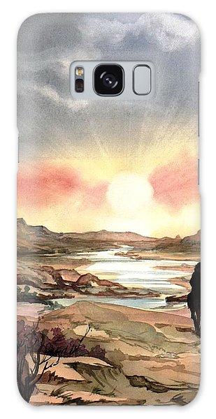 Dawn In The Valley Galaxy Case by Mikhail Savchenko