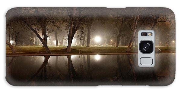 Dawn Mist Rising At Sycamore Pool  Galaxy Case