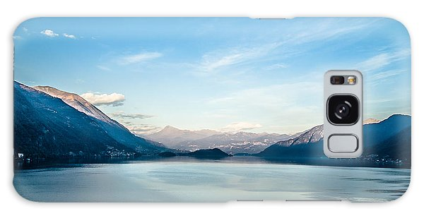 Dawn Over Mountains Lake Como Italy Galaxy Case