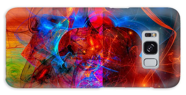 Colorful Digital Abstract Art - Day And Night Galaxy Case