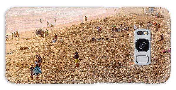 Day At The Beach - Sunset Huntington Beach California Galaxy Case