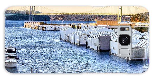 Day Island Marina And Narrows Bridges Galaxy Case