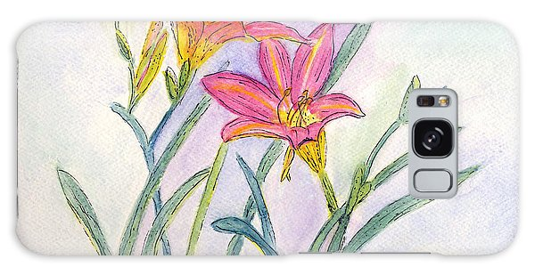 Day Lilies Galaxy Case