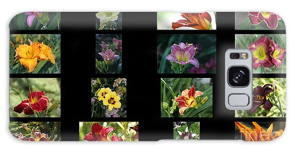 Day Lily Collage Galaxy Case