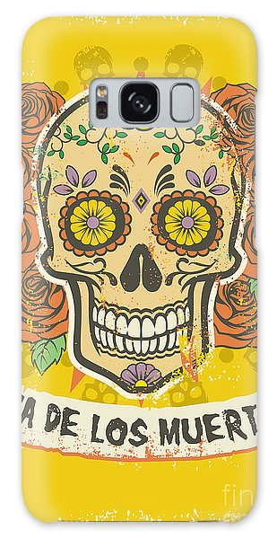 Rock And Roll Galaxy S8 Case - Day Of The Dead Poster by Bazzier