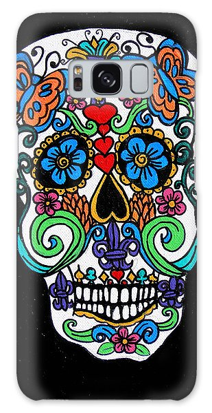 Day Of The Dead Skull Galaxy Case by Genevieve Esson
