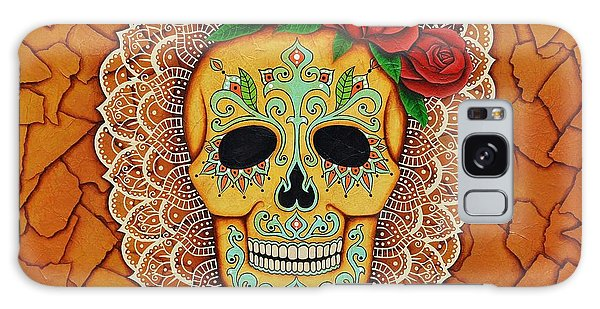 Day Of The Dead With Roses And Lace Galaxy Case by Joseph Sonday