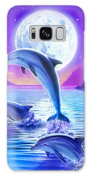 Day Of The Dolphin Galaxy Case by Robin Koni