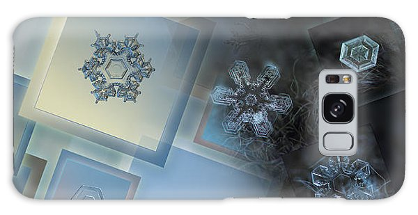Snowflake Collage - Daybreak Galaxy Case by Alexey Kljatov