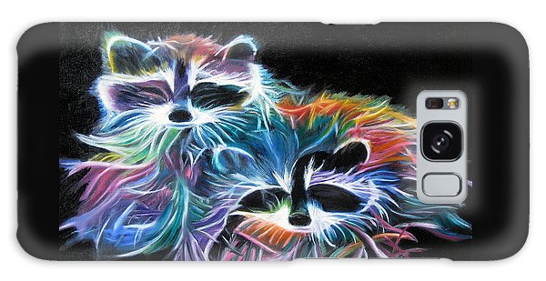 Dayglow Raccoons Galaxy Case by LaVonne Hand