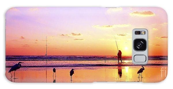 Daytona Beach Fl Surf Fishing And Birds Galaxy Case