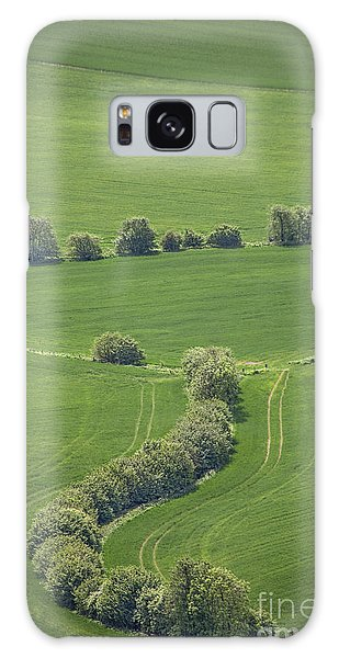 English Countryside Galaxy Case - Dazzling Green by Evelina Kremsdorf