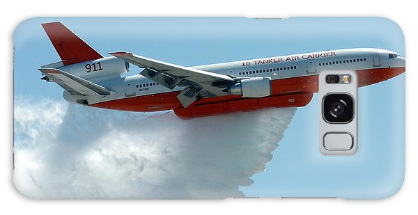 Dc10 Aerial Tanker Dropping Water Galaxy Case