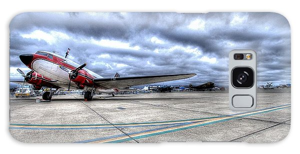 Galaxy Case featuring the photograph Dc3 And C47 Among The Mustangs At Salinas Air Show by John King