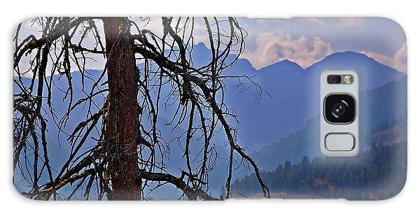 Dead Tree Mountains Landscape Galaxy Case by Valerie Garner
