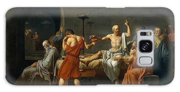 Death Of Socrates Galaxy Case by Jacques Louis David