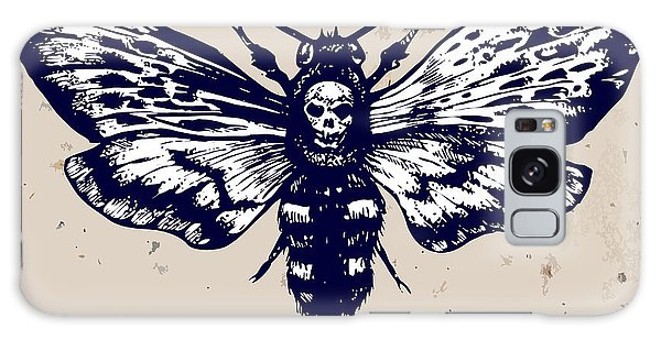 Realistic Galaxy Case - Deaths-head Hawkmoth. Hand Drawn Vector by Inna Sinano