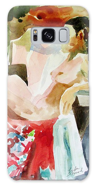 Debra On Flowered Kimono Galaxy Case