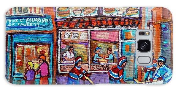Decarie Hot Dog Restaurant Ville St. Laurent Montreal  Galaxy Case by Carole Spandau