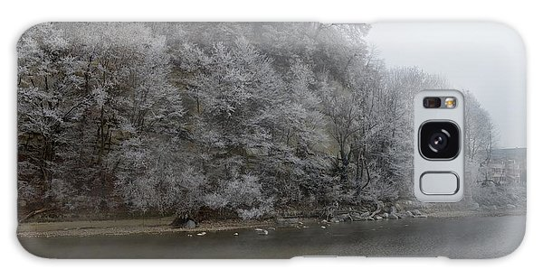 December Morning On The River Galaxy Case by Felicia Tica