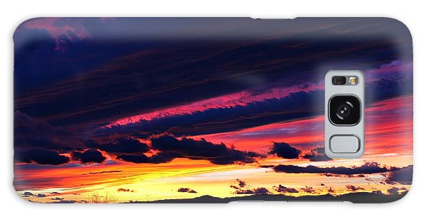 December Sunset Galaxy Case