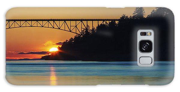 Deception Pass Bridge Sunset Galaxy Case