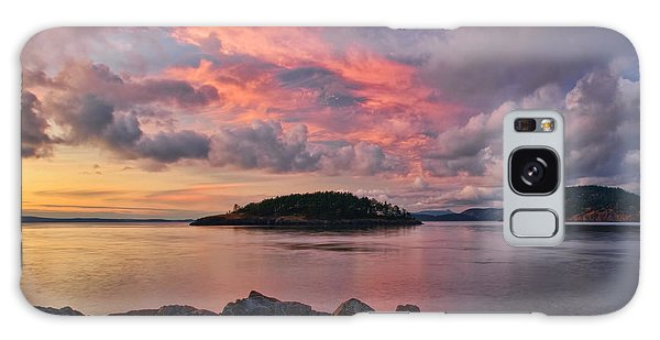 Deception Pass Sunset Galaxy Case